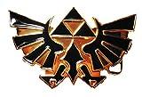 The Legend of Zelda TRIFORCE Metal and Black Metal Enamel Belt Buckle