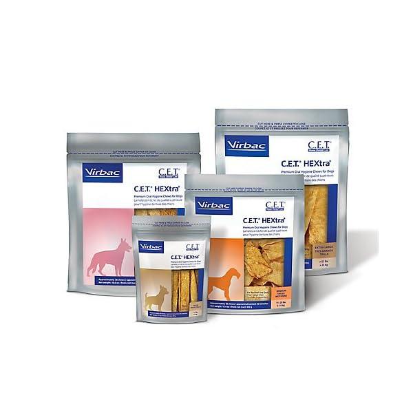 Virbac C.E.T. HEXtra Premium Oral Hygiene Chews for Dogs 1