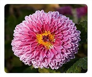 Top Chinese Flowers Design Rectangular Mouse Pad Blooming Chrysanthemum
