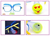 Light Up Glasses Clown Nose Glasses Flashing Glasses LED Glow in The Dark in Toys and Games Lighting (4 PCS Random Style)
