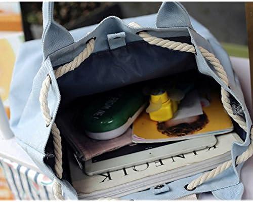 女性キャンバス多機能バックパック紐大容量防水バケツハンドバッグ YZUEYT