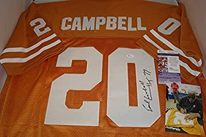 sports shoes 4a2b4 fdced Earl Campbell Signed Texas Longhorns Jersey, JSA ...