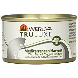 Weruva's TruLuxe Cat Food, Mediterranean Harvest with Tuna Whole Meat & Veggies in Gravy, 3oz (Pack of 24)