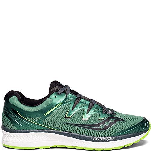 Saucony Men's Triumph ISO 4 Running Shoe, Green/Black, 9 Medium US ()
