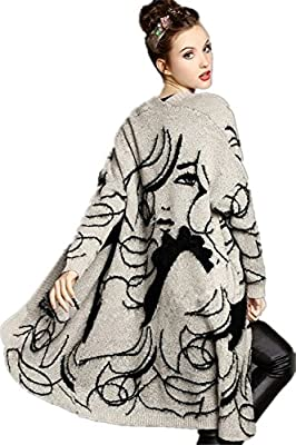 Wicky LS Women's Aztec Sweater Long Sleeve Open-front Cardigans