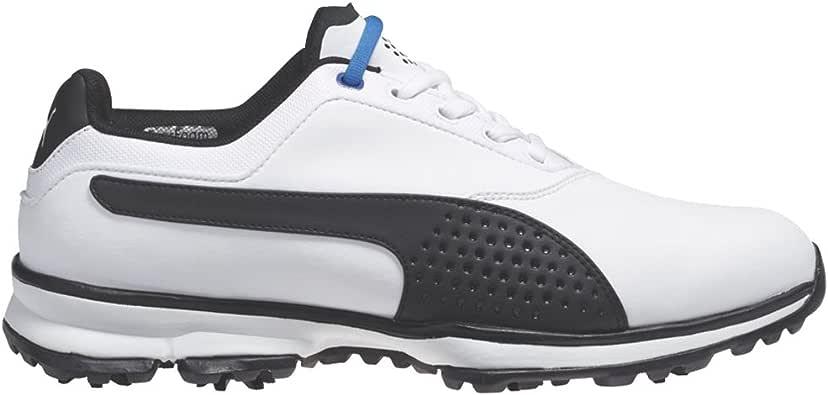 PUMA Men's Titanlite Golf Shoe, White/Black, 10 2E US