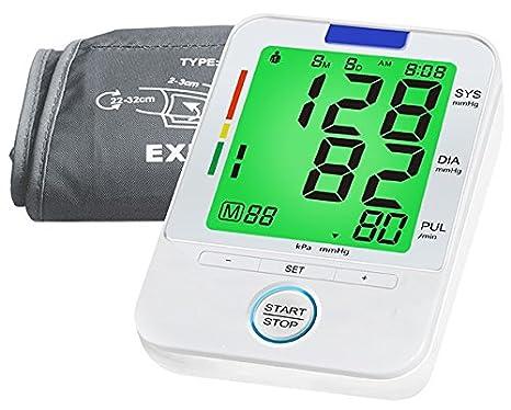 Arterial del brazo monitor de presión- Color lecturas precisas de la presión sanguínea, monitores normales de &Amp; pulso irregular / frecuencias cardíacas, ...