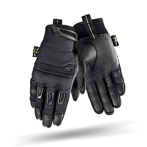 Shima AIR LADY, Vented Women Protective Lady Fit Summer Leather Classic Urban City Motorbike Gloves (XS-L), Black (M, Black)