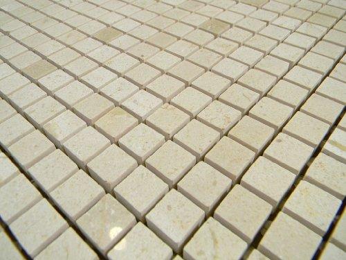 Crema Marfil Marble 5/8 Polish Mosaic Tile