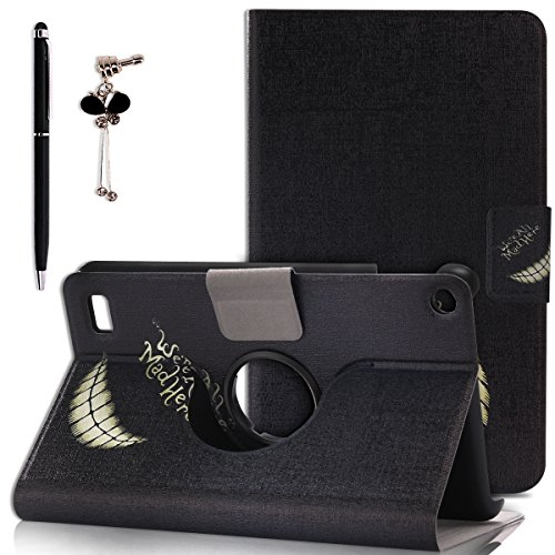 Kindle Fire 7 (2015) Case, Spiritsun [360 Rotating] [Slim Fit] [Stand] Smart Case Cover for Kindle Fire 7 with Auto Sleep / Wake Feature (We're All Mad)