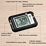 OZO Fitness SC 3D Digital Pedometer | Best Pedometer for Walking. Track Steps & Miles, Calories & Activity Time. Clip on Step Counter for Men, Women & Kids (Lanyard Included)
