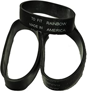 Rainbow Power Nozzle Belt, Fits: All Rainbow Canister Vacuum Cleaner Power Nozzles, 3 Belts in Pack