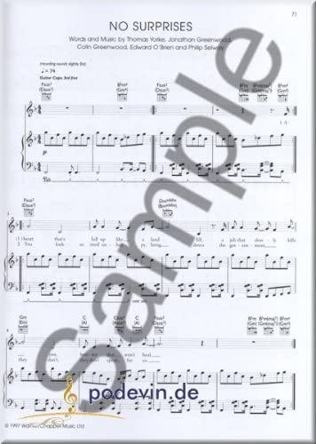 Radio Head – the piano Songbook – Notas Songbook Partituras ...