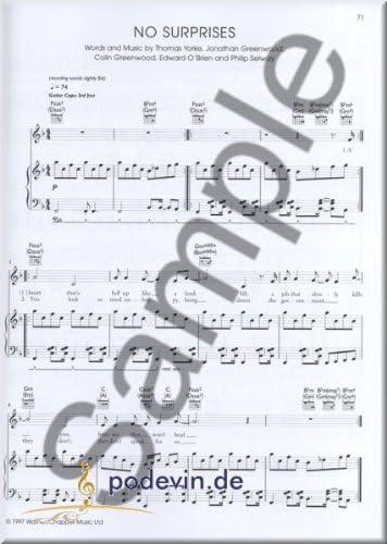 Radio Head – the piano Songbook – Notas Songbook Partituras ...
