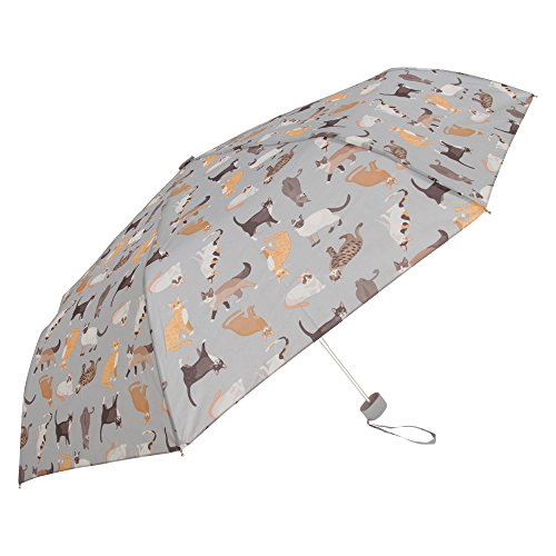 Susino Womens/Ladies Pet Print Compact Umbrella (One Size) (Cat (Manual Open Compact Umbrella)