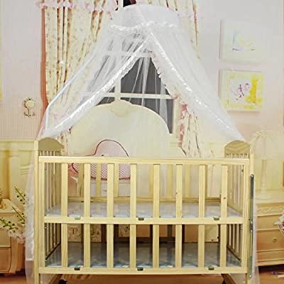 KateDy Baby Breathable Mosquito Net,Round Curtain Dome Bed Canopy Netting