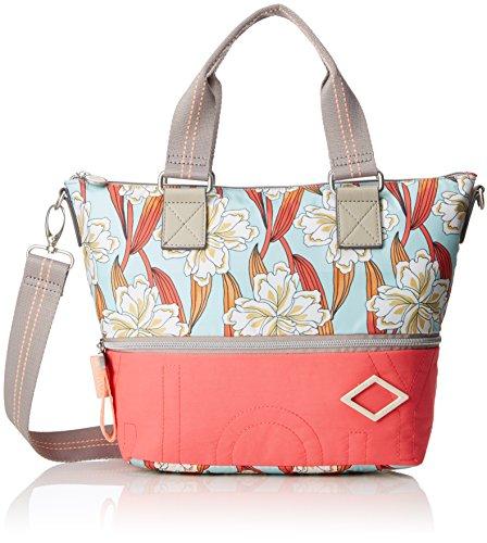 Oilily Charm Ornament Handbag Shz - Borsa Donna, Turchese (Light Turquoise), 13x26x38 cm (B x H T)