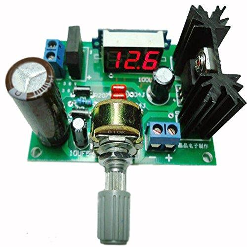 GEREE LED LM317 Step Down Power Supply Module Adjustable Voltage Regulator Input DC 0V-30V AC 0V-22V Output DC 1.25V-30V (Adjustable Supply)