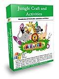 Jungle Craft Activities Pack- Massive (Jungle Craft Printable Activities Book 42010)