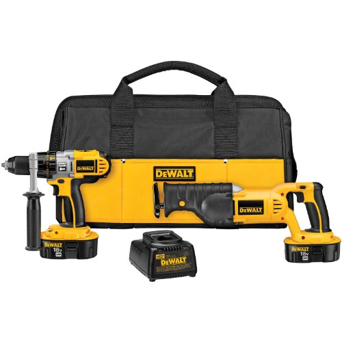 DeWALT DCK251X 18-Volt XRP Hammerdrill/Reciprocating Saw ...