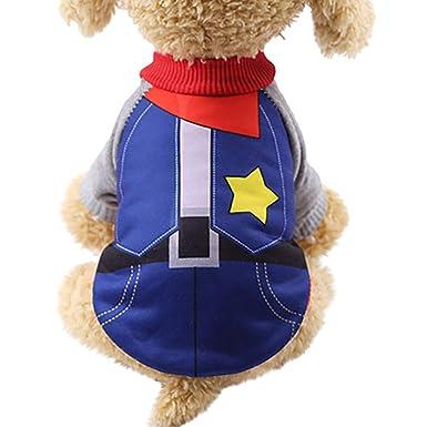 Walaka Perro de Primavera y de otoño vêtements- Cachorro Caliente Abrigo con Cremallera para Yorkshire/Bulldog Francés/Perro Shih Tzu Chaqueta Animal de ...