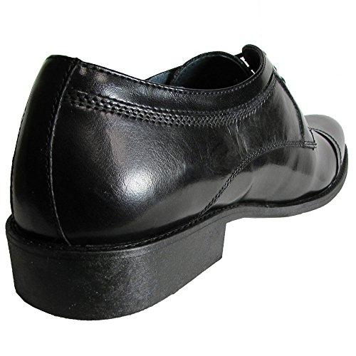 Steve Madden Mens P-Silvan Lace Up Cap Toe Oxford Shoe Black Leather shVh0K