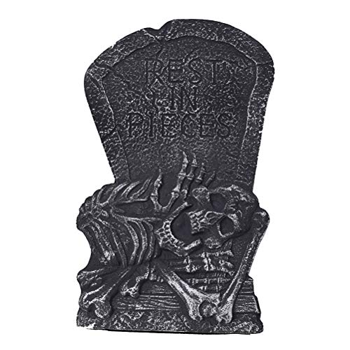Halloween Headstone Sayings (TOYANDONA Halloween Tombstone Rest in Pieces Foam Tombstone for Haunted House Creepy Cemetery Halloween Party Decoration)