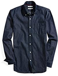 Men's Slim-Fit Long-Sleeve Denim Shirt