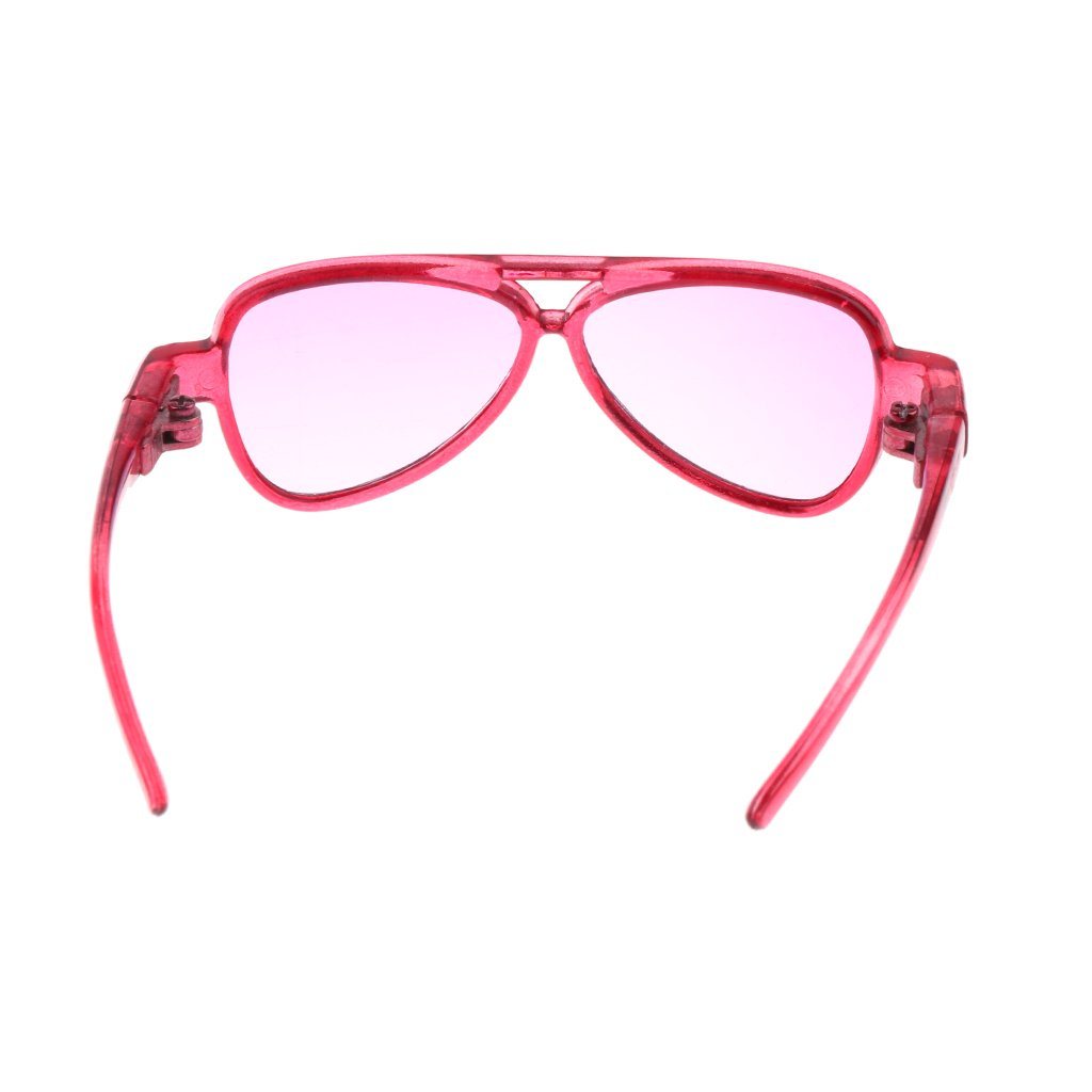 fb4503f7c3 Amazon.com  MonkeyJack Cool BJD Oval Frame Glasses Eyeglass Spectacles for  AS DZ LUTS SD17 Uncle Doll Clothes Dress Up Accs Purple Lens  Toys   Games