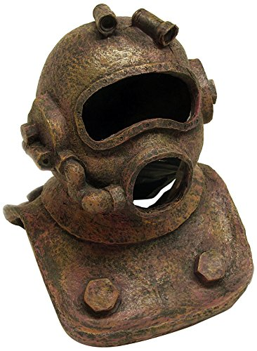 SPORN Aquarium Decoration, Diving Helmet Large