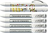 Wedding Pen by Greeting Pen- Personalized Wedding Cake Rotating Message Pens 50 pack (P-WP-10-50)