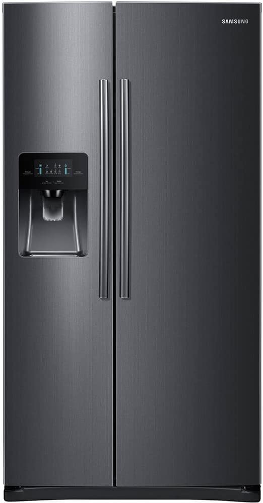 "Samsung RS25H5111SG 36"" Freestanding Side by Side Refrigerator with 24.5 cu. ft. Capacity, in Black Stainless Steel"