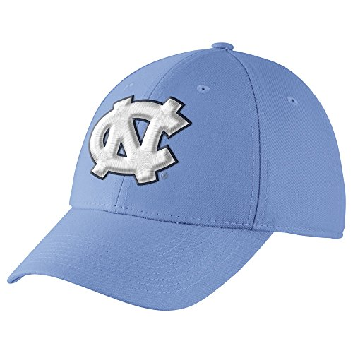 (Nike Men's North Carolina Swoosh Flex Baseball Cap Blue Size Medium/Large)