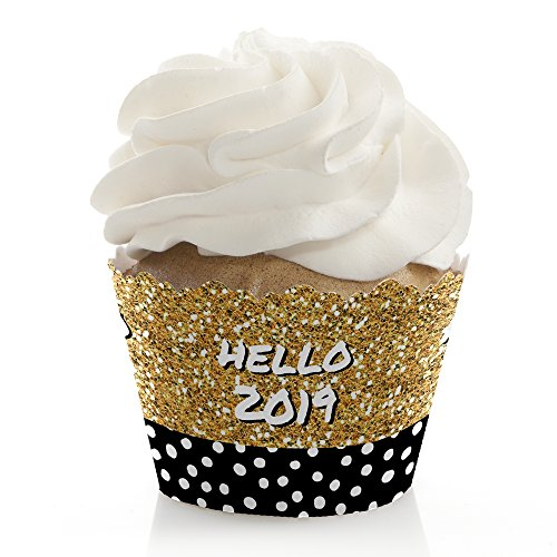 Pop, Fizz, Clink - 2019 New Year's Eve Party Decorations - Party Cupcake Wrappers - Set of 12]()