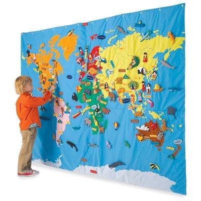 Fao Schwarz World Map.Amazon Com Gigantic World Map Toys Games