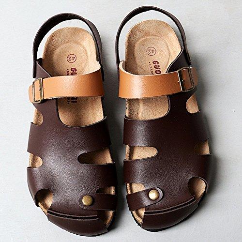 dimensioni da Colore Marrone 5 ZHANGRONG Marrone EU37 Comfort CN37 uomo 5 Casual Estate UK4 Outdoor Pantofole Primavera Pantofole g5CwWPzqFx