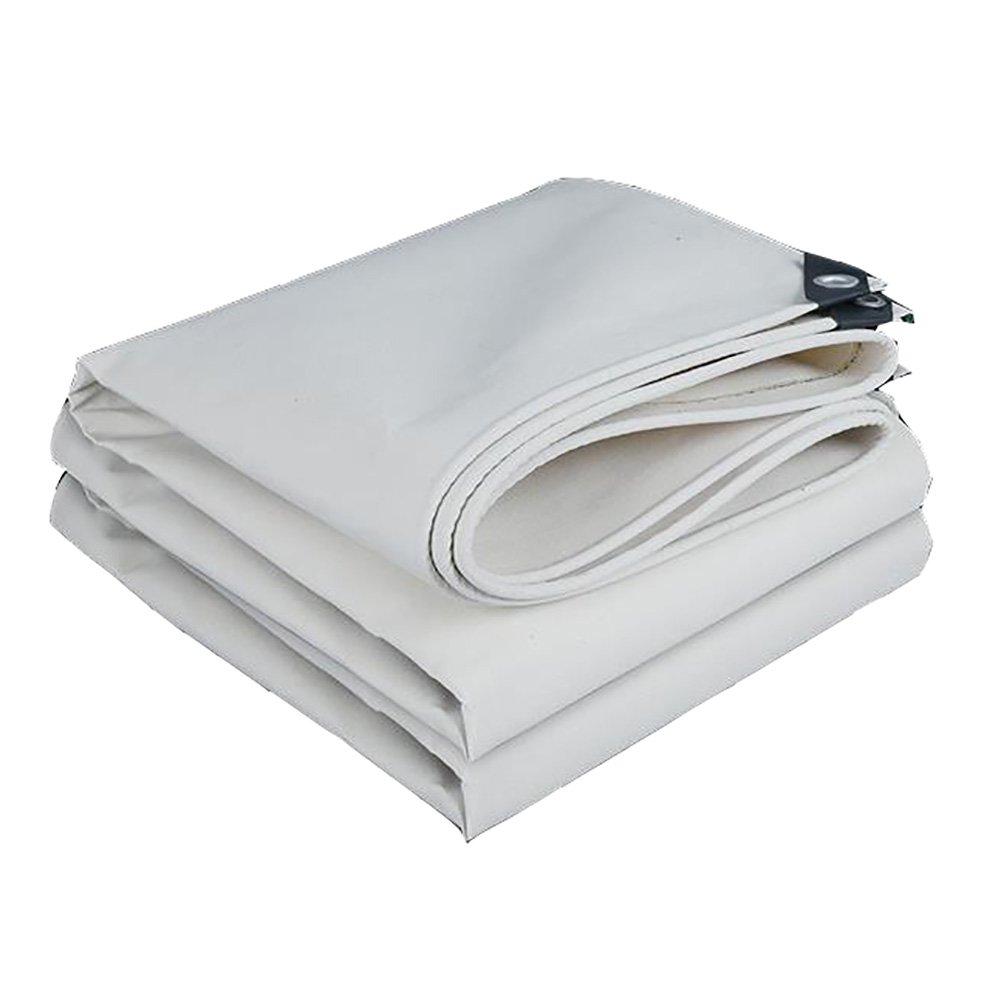 QRFDIAN Weißer Regenschutz des weißen Segeltuch-starken warmen warmen Abnutzung Anti-Alternplanen-Regenstoffs im Freien Markisentuch