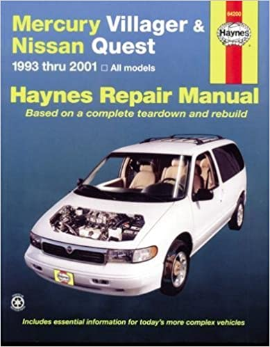 haynes 00 nissan quest repair manual