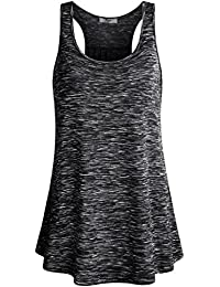 Womens Sleeveless Scoop Neck Flowy Loose Fit Racerback...
