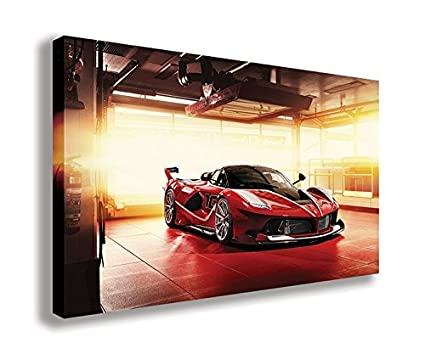 Amazon.com: FERRARI FXX K 2015 SUPERCAR CANVAS WALL ART (44\