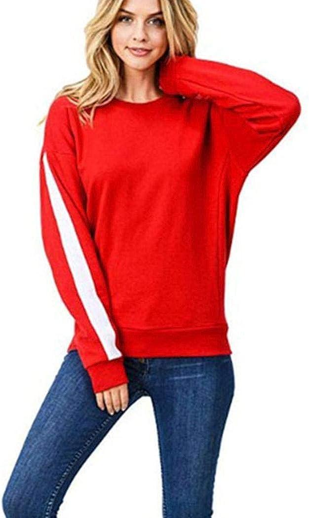 sandinged Women Casual Autumn Sweatshirt Long Sleeve O-Neck Pullover Tops Fashion Sweatshirts