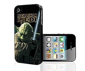 Colorful Retro Yoda Jedi Master Art Hard Snap on Phone Case (iPhone 4/4s)