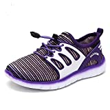 YiuKhmer Kids Shoes Boys Girls Tennis Sneakers Lace-up Casual Shoes (Toddler/Little Kid) (11.5M US Little Kid, Purple)