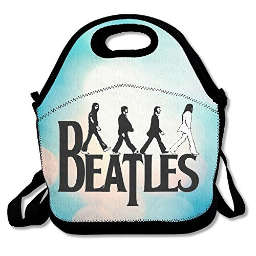 Bakeiy The Beatles Abbey Road Lunch Tote Bag Lunch Box Neoprene Tote For Kids And Adults For Travel And Picnic (Abbey Bowl)