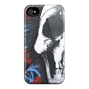 AlissaDubois iPhone 5 5s Perfect Hard Phone Cases Support Personal Customs Vivid Deftones Skull And Roses Pictures [cmj237VFNB]
