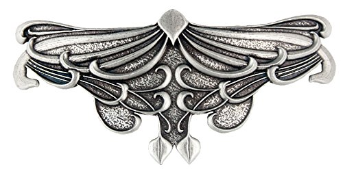 Art Nouveau Leaf Hair Clip | Hand Crafted Metal Barrette Made in the USA with imported French Clips By Oberon Design