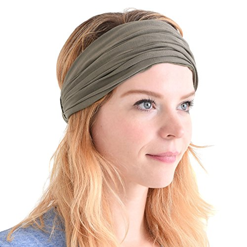 Charcoal Gray Japanese Bandana Headbands for Men and Women – Comfortable Head Bands with Elastic Secure Snug Fit Ideal Runners Fitness Sports Football Tennis Stylish Lightweight M by CCHARM (Image #10)