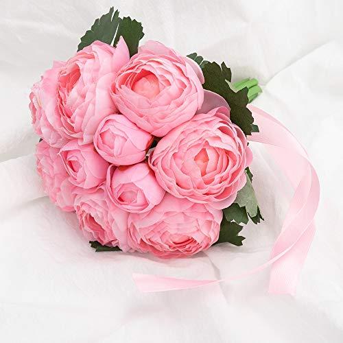 tianluo Flores Artificiales Hermosas Flores Artificiales De La Boda Ramos Falsos Nupciales Centro De Mesa Decoracion para Mesa Suministros De Matrimonio De Dama De Honor