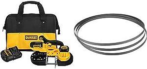 DEWALT DCS371P1 20V MAX Lithium Ion Band Saw Kit with DEWALT DW3984C 24 TPI Portable Band Saw Blade, 3-Pack