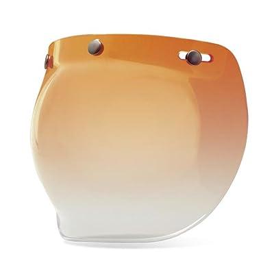 Bell 3-Snap Bubble Shield, Amber Gradient: Automotive